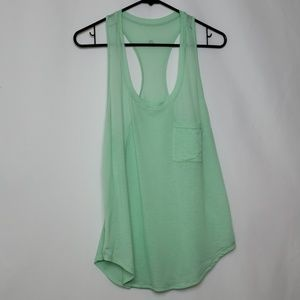 Lululemon Green Racerback Pocket Tank